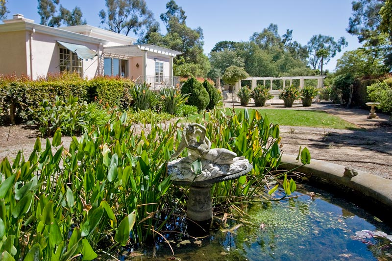The backyard of a luxury home in the luxurious Santa Barbara Riviera sold by Montecito & Santa Barbara real estate agent and luxury home specialist Louise McKaig. luxury homes, houses for sale.