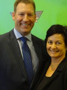 Luxury real estate agent Louise McKaig with Todd Davis CEO & founder of LifeLock the financing and credit protection agency