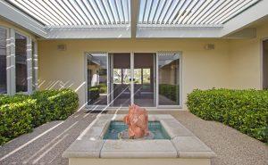 santa barbara house courtyard, large living room, fountain, sb real estate, montecito realtor