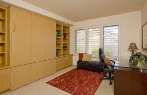 Luxury murphy bed, santa barbara real estate, montecito house, real estate, santa barbara home office, custom office