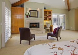 custom fireplace, gas fire, master bedroom with fire place, luxury master, master room, luxury bedroom,