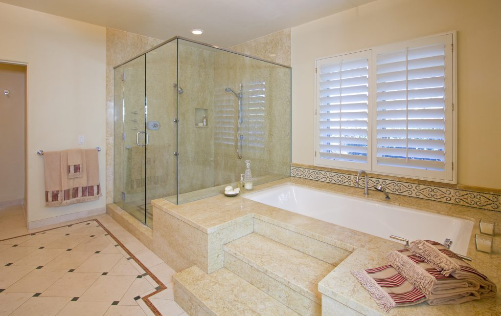 luxury real estate, luxury home, luxury bathroom, custom bathroom design, santa barbara house, santa barbara tile, tile bathroom, custom shower, luxury bath