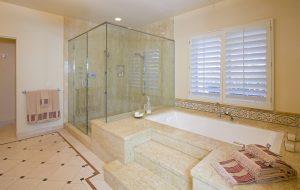 luxury real estate, luxury home, luxury bathroom, custom bathroom design, santa barbara house, santa barbara tile, tile bathroom, custom shower, luxury bath