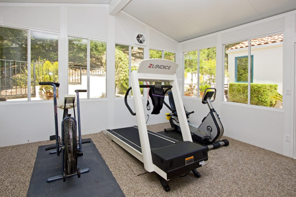 luxury homes, private gym, in house gym, training room, dance room, santa barbara house, luxury california house for sale