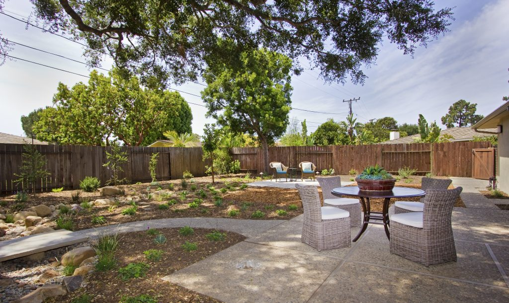 outside, backyard, santa barbara landscape, village properties listing, realtor listing, real estate santa barbara, real estate montecito, top luxury realtor, top luxury real estate agent, california luxury homes,