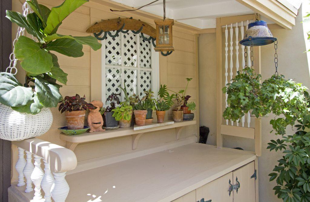 potted plants, garden, outdoor, zen, peaceful, santa barbara, montecito, real estate