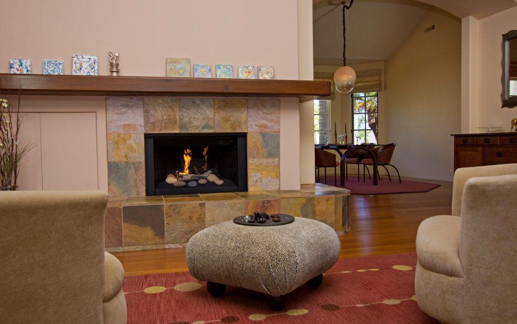 fireplace, santa barbara property, custom fireplace design, montecito real estate