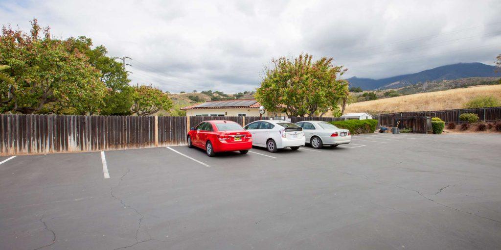 parking, parking area, condo parking, santa barbara parking, parking lot in santa barbara county