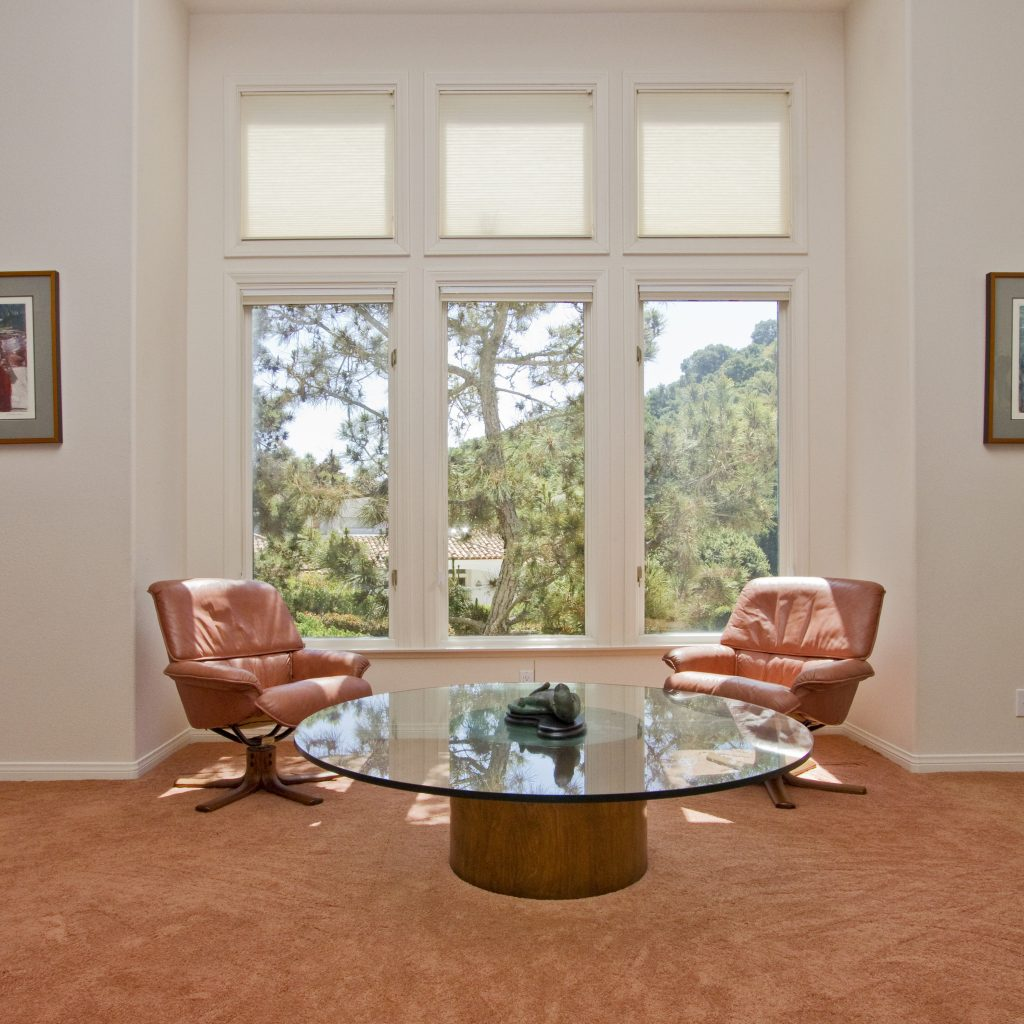 santa barbara estate, louis manzo, mckaig louise, luxury home, real estate, chairs and table, carpet, view, home with a view, trees and outdoors of estate