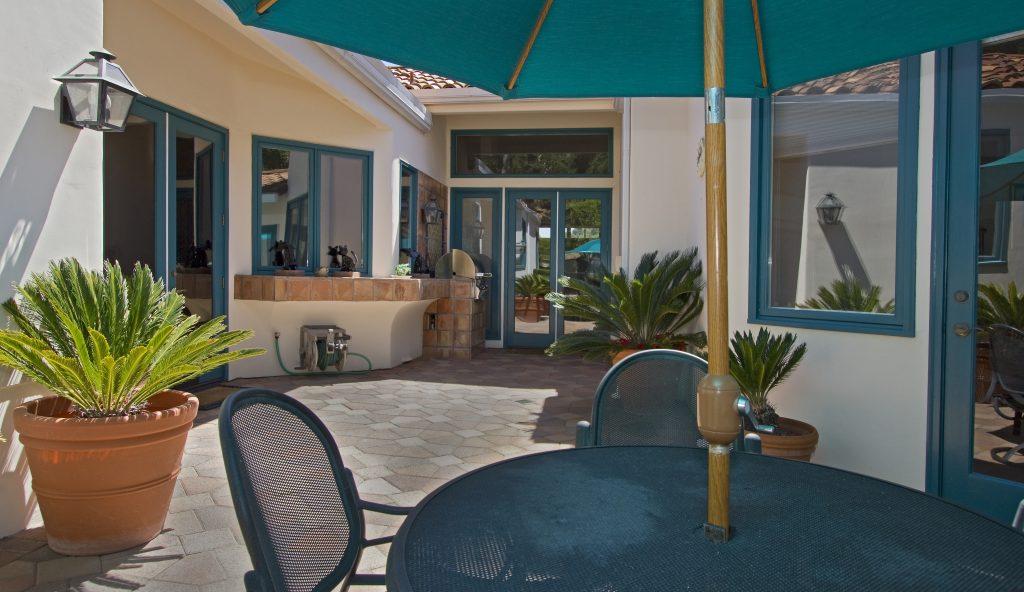 courtyard, santa barbara real estate, montecito real estate, luxury real estate, louise mckaig, village properties