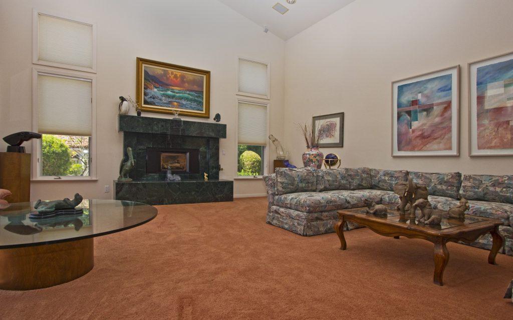 open floor plan, living room, luxury fireplace, custom designed homes, luxury architecture, estates in montecito, sb real estate, santa barbara montecito,