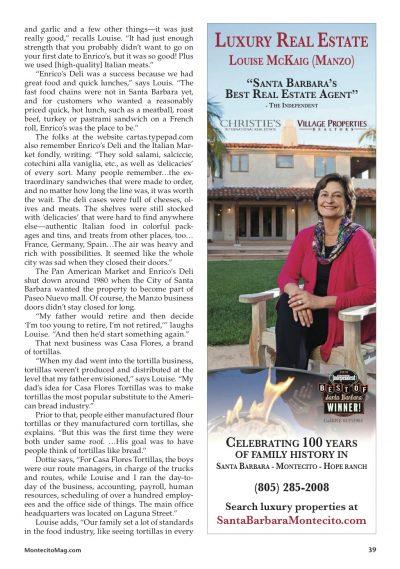 Santa Barbara, Montecito, Santa Barbara history, Montecito history, Manzo real estate, manzo family, mckaig real estate, santa barbara real estate agent, montecito realtor