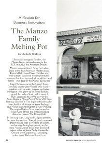 Montecito magazine, feature article, louise mckaig, santa barbara history, the italian store, pan american markets