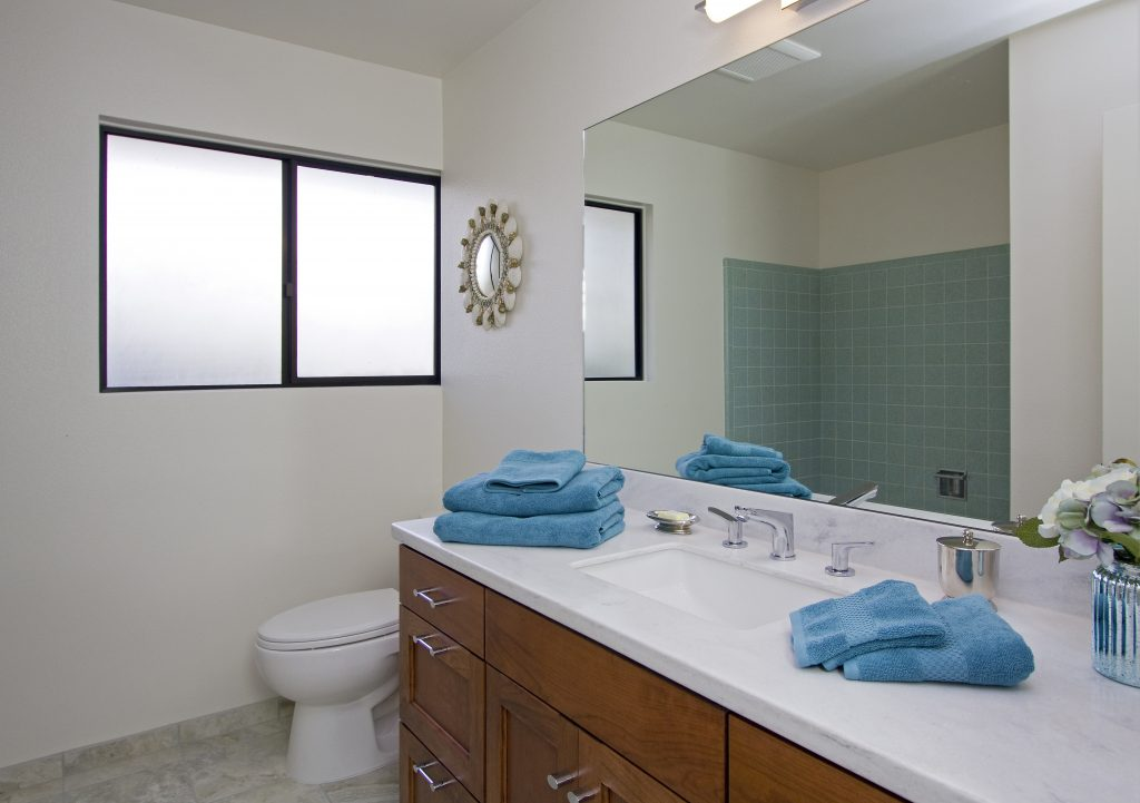 bathroom with sinks and plumbing, santa barbara realtor
