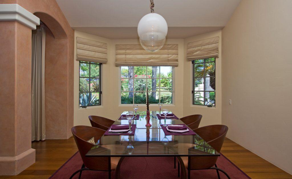 Santa Barbara, window, dining room, Rancho San Antonio, Santa Barbara, luxury real estate