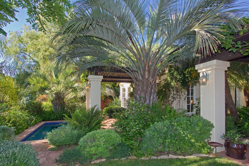 luxury home, mansion, palm trees, santa barbara spa,