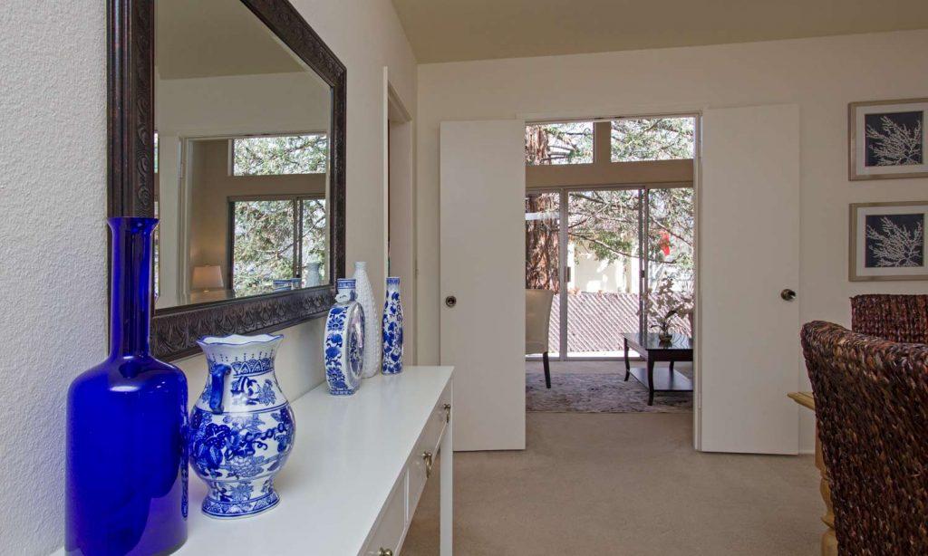 santa barbara property dining room, dining room of hope ranch house, santa barbara homes