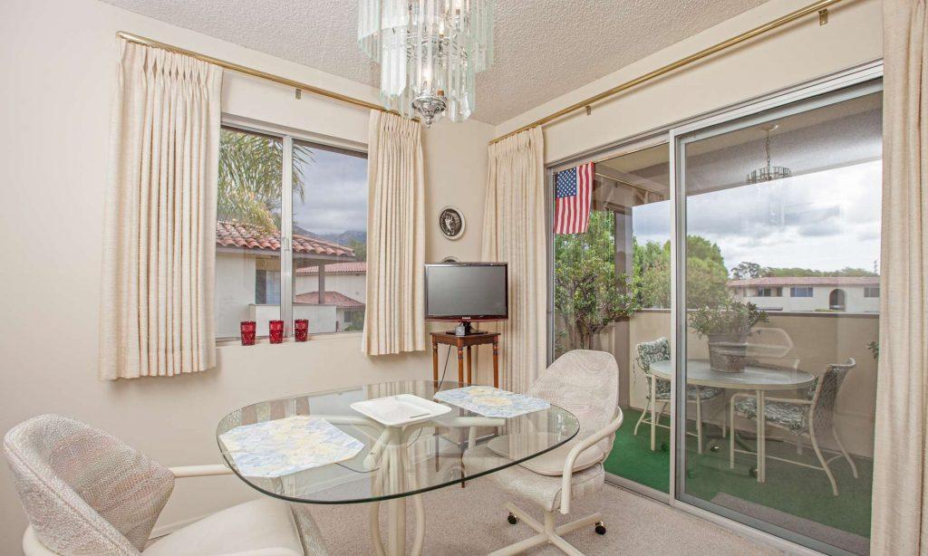 santa barbara condo dining room, dining room condo, condominium