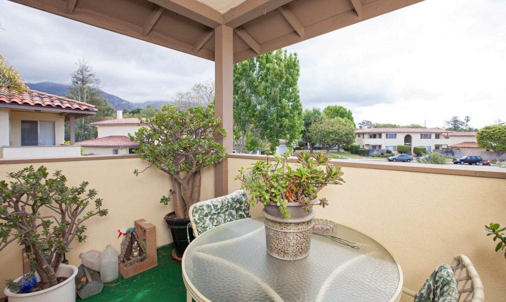 balcony santa barbara patio, condo patio, condo balcony